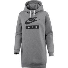 Nike W Nsw Hoodie Dress Air Longsweat Damen carbonheather-white-black