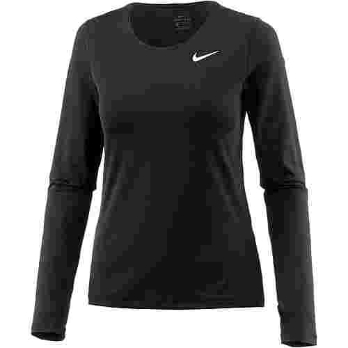 Nike Pro All Over Mesh Langarmshirt Damen black-white
