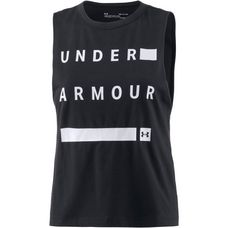 Under Armour Muscle Tanktop Damen black-white