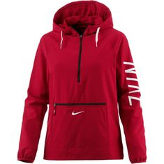 Nike Flex Hoodie Damen gym red-black-white