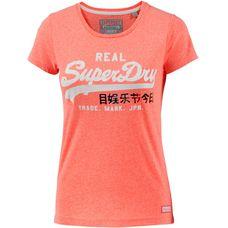 Superdry T-Shirt Damen Fluro Coral Snowy