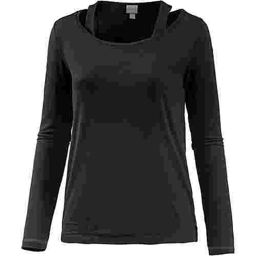 Bench Langarmshirt Damen black beauty