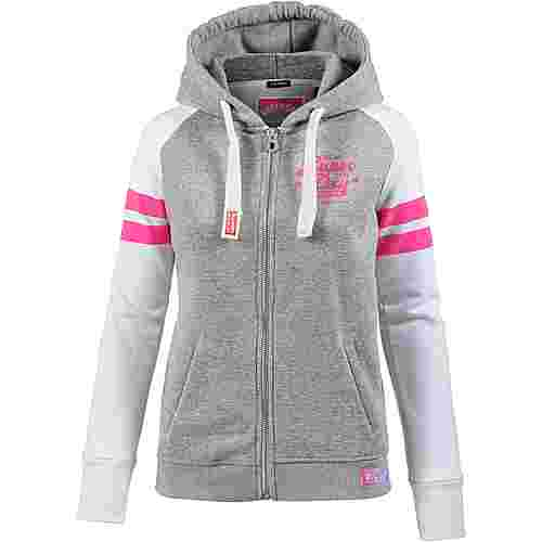 Superdry Sweatjacke Damen Grey Marl Snowy/Optic