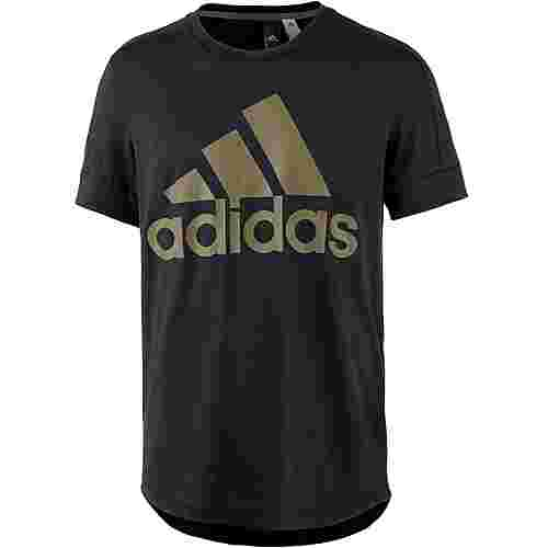 adidas ID BOS T-Shirt Herren black-trace olive f17