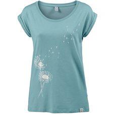 iriedaily Pusteblume Tee T-Shirt Damen beryl-melange