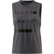 Under Armour Muscle Tanktop Damen charcoal medium heather-black
