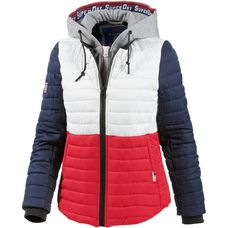 Superdry Kapuzenjacke Damen Liner White/Flare Red/Navy
