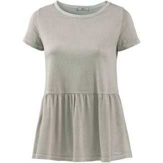 LTB T-Shirt Damen light green checks