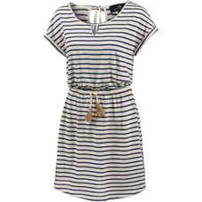 LTB Kurzarmkleid Damen navy and white stripe