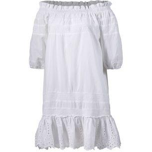 Herrlicher Jule Kurzarmkleid Damen white