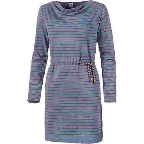 Mazine Langarmkleid Damen indigo mel-stripes