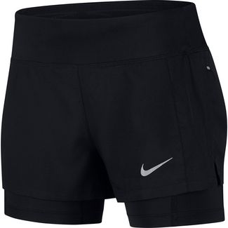 Nike Flex Triumph Laufshorts Damen black-black-reflective silver