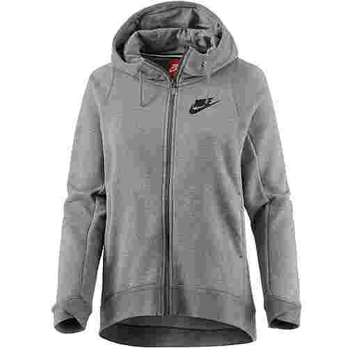 Nike Modern Sweatjacke Damen carbon heather-cool grey-black
