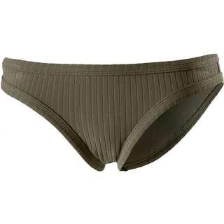 Seafolly Inka Rib Bikini Hose Damen dark olive