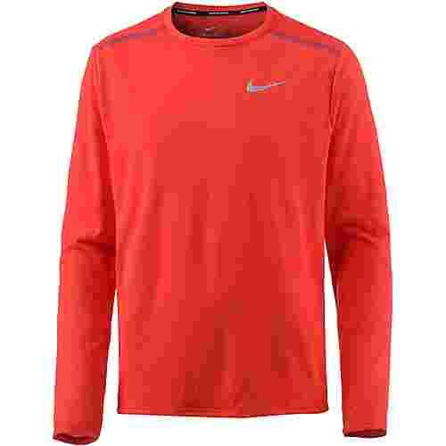 Nike BREATHE RISE Laufshirt Herren habanero-redteam-red-reflective-silv
