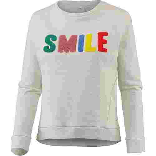 TOM TAILOR Sweatshirt Damen marble-beige-melange