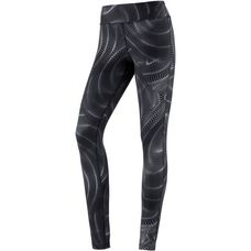Nike Power Essential Lauftights Damen anthracite-reflective silver