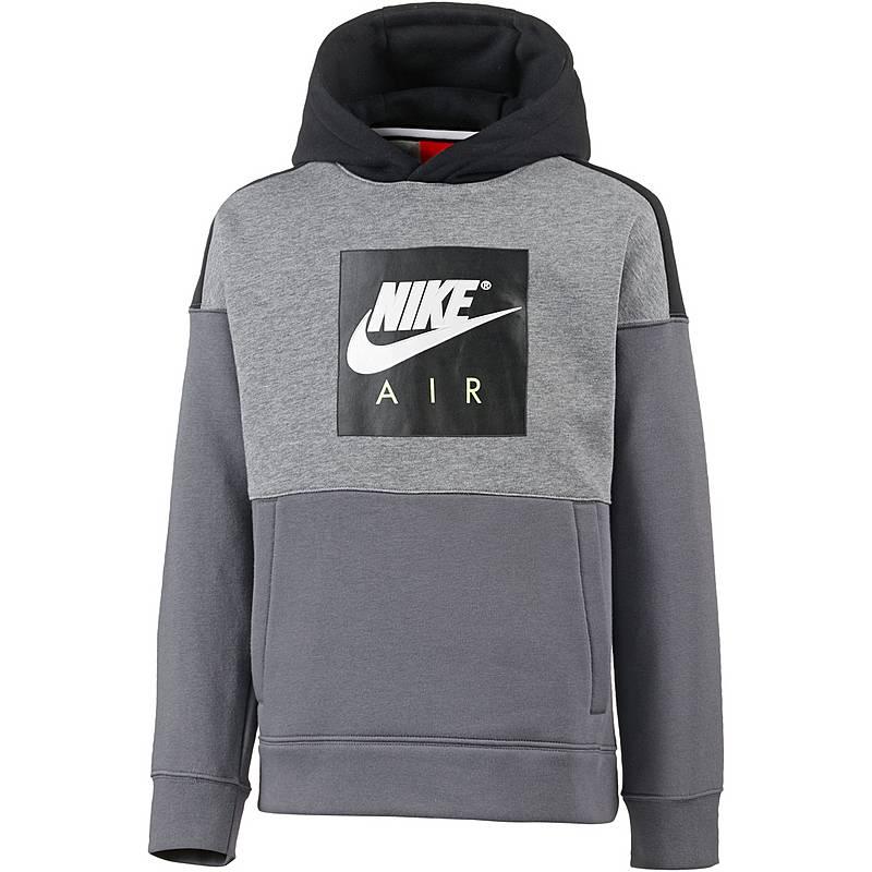 Nike AIR Hoodie Jungen carbon-heather-black-dark-grey im Online Shop ... 3fec0778e2
