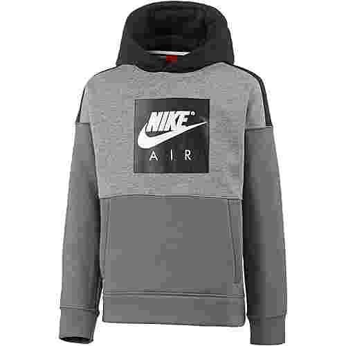 Nike AIR Hoodie Kinder carbon-heather-black-dark-grey