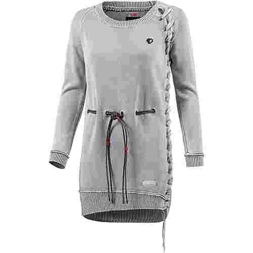 Khujo Strickkleid Damen washed l grey