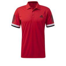 adidas 3-Streifen Club Tennis Polo Herren Scarlet