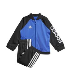 adidas Shiny Trainingsanzug Trainingsanzug Kinder Hi-Res Blue/Black/White