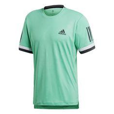 adidas 3-Streifen Club Tennisshirt Herren Hi-Res Green