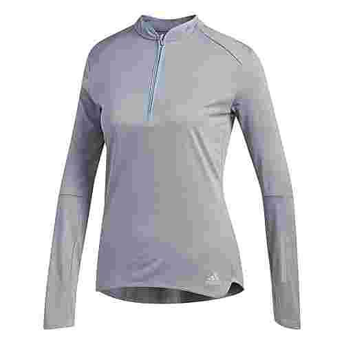 adidas Response Longsleeve Laufshirt Damen Grey/Colored Heather