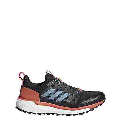 adidas Supernova Trail Mountain Running Schuhe Damen Carbon/Raw Steel/Trace Scarlet