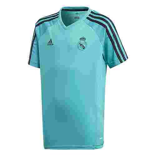 adidas Real Madrid Trainings Fußballtrikot Kinder Turquoise/Aero Reef