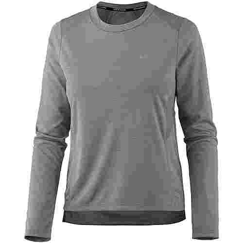 Nike Dry Miler Laufshirt Damen gunsmoke-heather-reflective silver