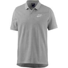 Nike NSW Poloshirt Herren dk-grey-heather-white