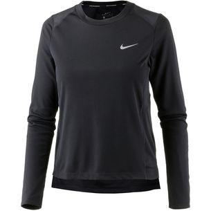 Nike Dry Miler Laufshirt Damen black-reflective silver