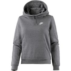 Nike Hoodie Damen charcoal heather-charcoal heather-dark grey