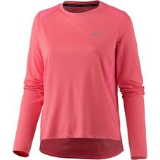 Nike Dry Miler Laufshirt Damen sea coral-reflective silver
