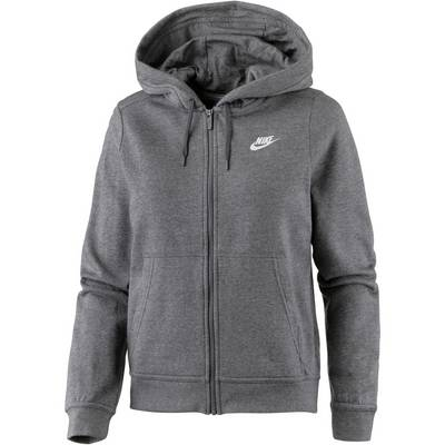 nike sweatjacke damen charcoal heather charcoal heather. Black Bedroom Furniture Sets. Home Design Ideas