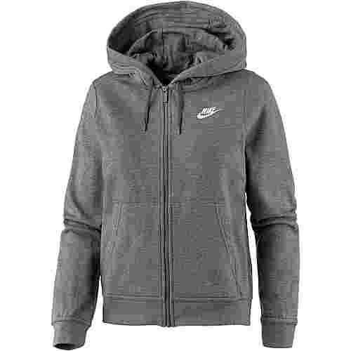 Nike Sweatjacke Damen charcoal heather-charcoal heather-dark grey