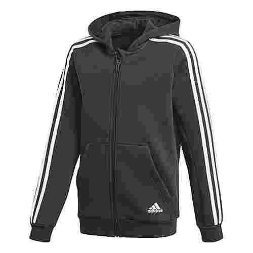 adidas Essentials 3-Streifen Hoodie Kinder Black/White