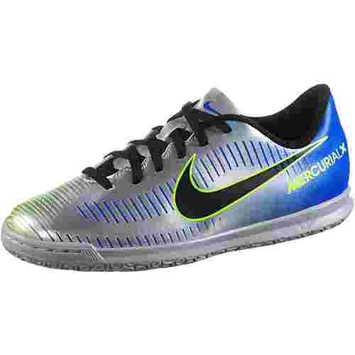Nike JR MERCURIALX VRTX III NJR IC Fußballschuhe Kinder racer blue/black-chrome-volt-volt