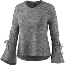 Only Langarmshirt Damen light grey melange