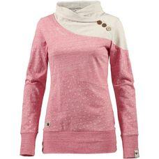 Ragwear NEST BLOCK ORGANIC Sweatshirt Damen red