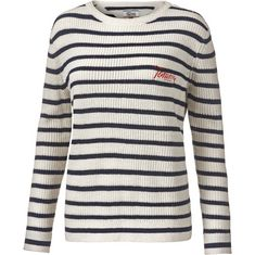 Tommy Jeans Strickpullover Damen snow white-navy blazer