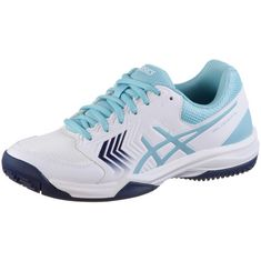 ASICS GEL-DEDICATE 5 Tennisschuhe Damen white-porcelain blue