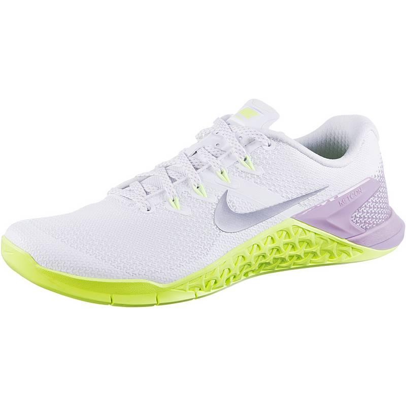 pretty nice 75038 bac8a NikeMetcon 4 FitnessschuheDamen whitemetallic silverelemental rose. Nike ...