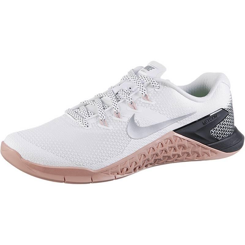 sale retailer 92ae2 83ecd Nike Metcon 4 Fitnessschuhe Damen white-metallic silver-rust pink