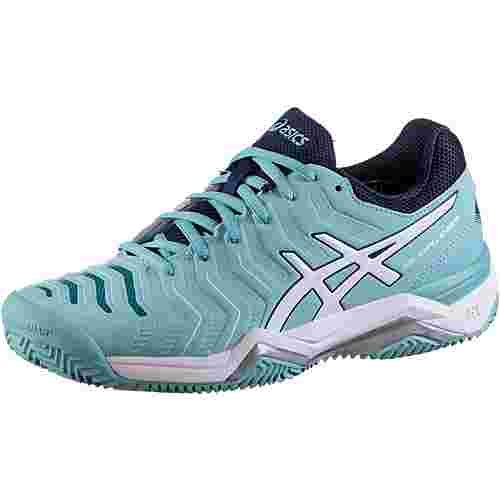 asics gel challenger 11 clay tennisschuhe damen porcelain blue silver im online shop von. Black Bedroom Furniture Sets. Home Design Ideas