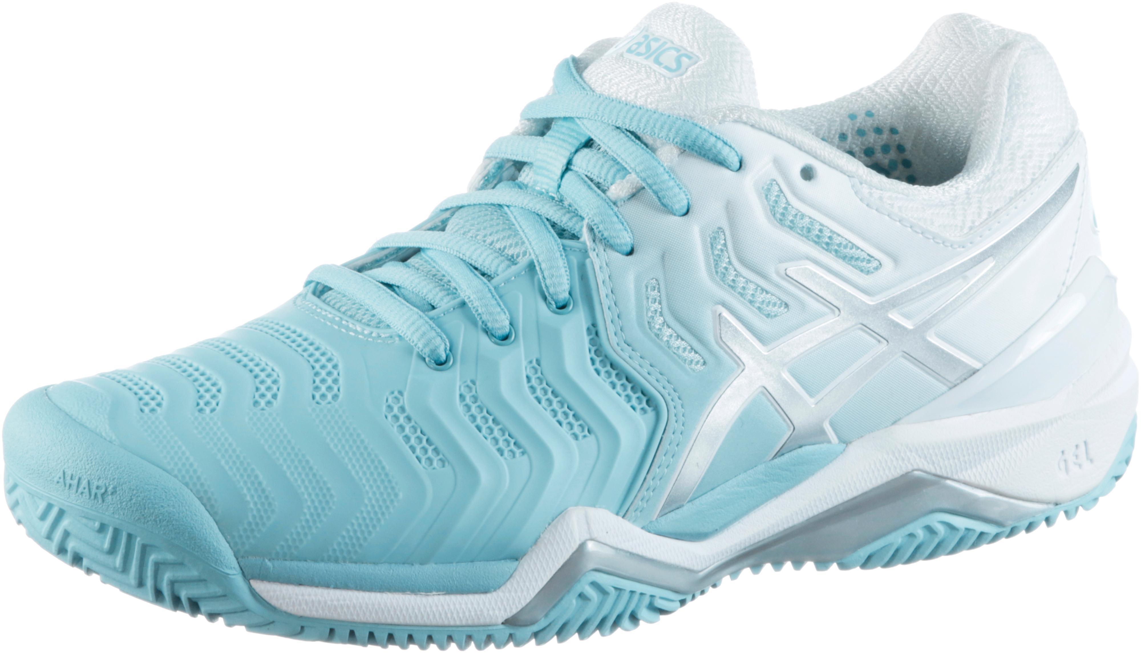 ASICS GEL-RESOLUTION 7 Tennisschuhe Damen porcelain blue- silver im Online Shop von SportScheck kaufen