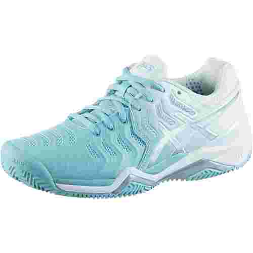 ASICS GEL-RESOLUTION 7 Tennisschuhe Damen porcelain blue- silver
