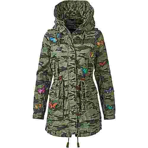 Khujo Kapuzenjacke Damen camouflage