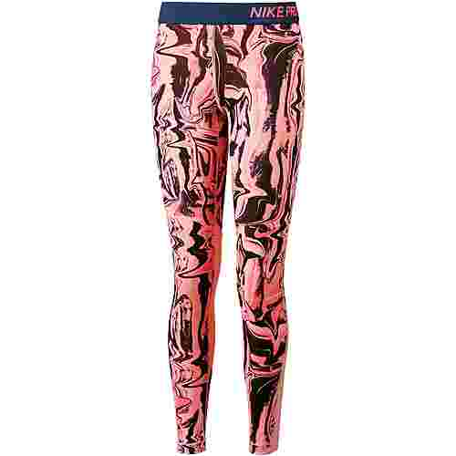 Nike Tights Kinder hot-punch-bleached-coral-navy